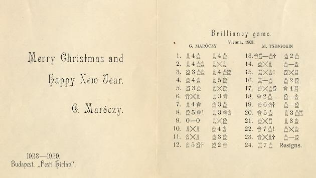 Maroczy's Christmas card